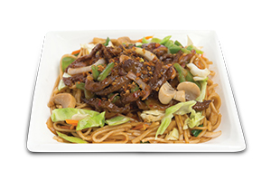 Chinese Noodles With Beef in Garlic