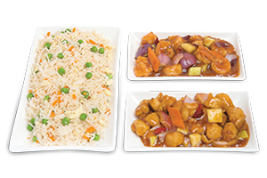 Chinese Rice Shrimp Kung Pao Chicken Kung Pao