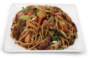 Noodles With Chicken & Beef